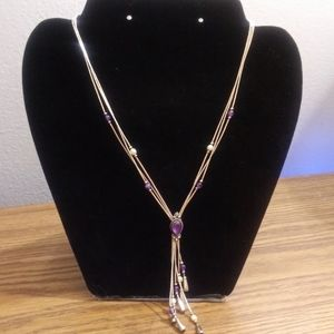 Carolyn Pollack Amethyst and sterling necklace